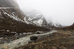 Annapurna Trekking slinga i västra Nepal Arkivbild