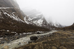 Annapurna Trekking Trail in west Nepal. Stock Photography