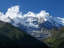 Annapurna 2 from Upper Pisang, Nepal royalty free stock photo