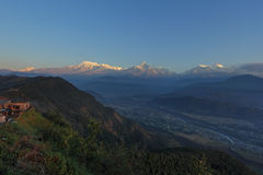 Annapurna view from sarangkot, Nepal Stock Photos