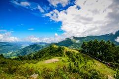 Annapurna-Wanderung stockfotos