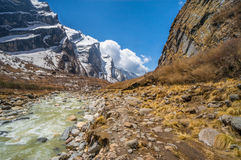 Annapurna way. Nepal Asia travel Stock Images