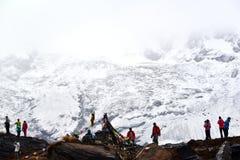 annapurnabasläger nepal Arkivbild