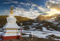 Annapurnabergen in het Himalayagebergte van Nepal royalty-vrije stock foto