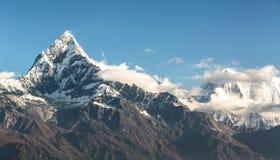 Annapurnaen, Nepal Fotografering för Bildbyråer
