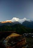 annapurnahimalayas nepal Fotografering för Bildbyråer