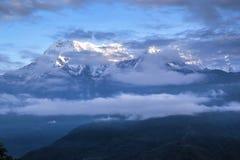 Annapurnamassief, Nepal Stock Afbeeldingen