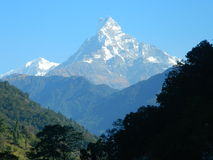 Annapurnas view point Stock Images