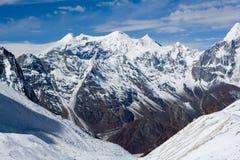 annapurny himalayas nepal Arkivbilder