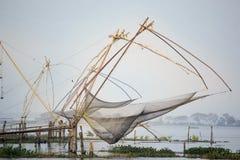 Annat sätt av fiske i Kerala, Indien Royaltyfri Fotografi