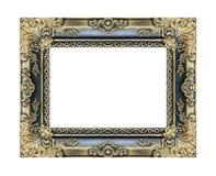 Annata antica della cornice isolata su bianco Fotografia Stock