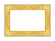 Annata antica della cornice isolata su bianco Immagini Stock Libere da Diritti