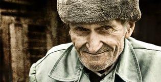 annata artistica dell'anziano del ritratto dell'uomo uno Immagine Stock Libera da Diritti
