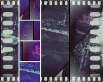 Annata in bianco e nero di lerciume del film di seppia dell'insegna Fotografia Stock