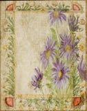 Annata - blocco per grafici del fondo dell'album per ritagli del collage del fiore Fotografia Stock