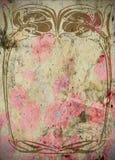 Annata - blocco per grafici Grungy dell'album per ritagli di Nouveau di arte   Fotografia Stock