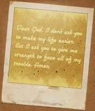 Annata cara di lerciume della carta del dio Immagini Stock Libere da Diritti