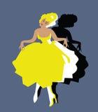 Annata del danzatore del Can-Can royalty illustrazione gratis