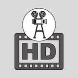 Annata del film della macchina fotografica con il hd di film Fotografia Stock