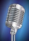 Annata del microfono Immagini Stock