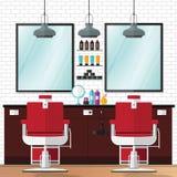 Annata del negozio di barbiere Immagine Stock