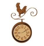 Annata del pollo dell'orologio Fotografia Stock Libera da Diritti