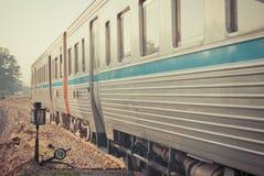 Annata del treno Fotografia Stock
