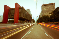 Annata del viale di Paulista Immagini Stock