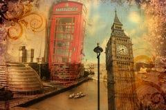 Annata dell'illustrazione di progettazione di arte di Londra retro Fotografie Stock