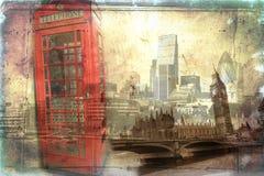 Annata dell'illustrazione di progettazione di arte di Londra retro Immagini Stock Libere da Diritti