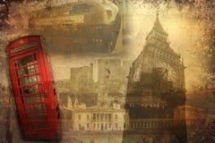 Annata dell'illustrazione di progettazione di arte di Londra retro Immagine Stock