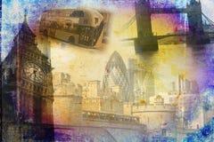 Annata dell'illustrazione di progettazione di arte di Londra retro Fotografia Stock Libera da Diritti
