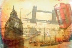 Annata dell'illustrazione di progettazione di arte di Londra retro Immagini Stock
