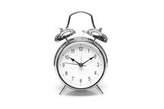 Annata dell'orologio su fondo bianco Fotografia Stock