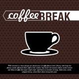 Annata della pausa caffè del manifesto illustrazione di stock
