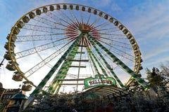 Annata della ruota panoramica di Natale Fotografia Stock Libera da Diritti