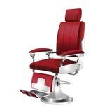Annata della sedia di barbiere Fotografie Stock Libere da Diritti