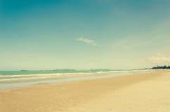Annata della spiaggia e del mare Immagine Stock