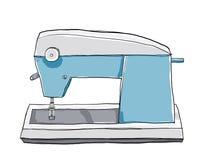 Annata di arte della macchina per cucire dei bambini Fotografia Stock