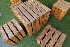 Annata di legno della tavola Fotografia Stock