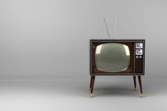 Annata di legno TV dell'impiallacciatura Fotografia Stock