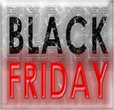 Annata di lerciume di Black Friday Fotografia Stock
