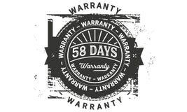 annata di progettazione della garanzia da 58 giorni, migliore raccolta di bollo illustrazione vettoriale
