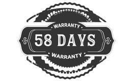 annata di progettazione della garanzia da 58 giorni, migliore raccolta di bollo illustrazione di stock