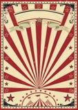 Annata di rosso del circo Immagine Stock