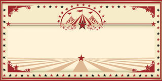 Annata di rosso della carta del circo Immagini Stock
