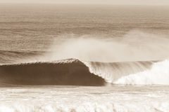 Annata di schianto di seppia di Wave di oceano Immagini Stock