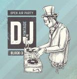 Annata DJ illustrazione vettoriale