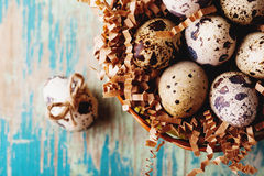 Annata felice di Pasqua e cartolina naturale di stile fotografia stock