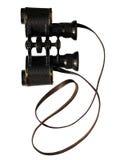 Annata isolata binoculare Fotografia Stock Libera da Diritti